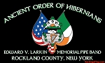 ...Custom PARADE FLAG- AOH Pipe Band DELUXE- PRINTED POLY-Canvas